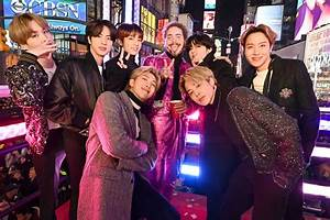 Photos Bts Own New York Times Square As They Enthrall