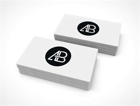 double stack  business cards psd mockup psd mockups