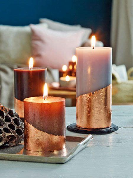 schmuckwerk kerzen mit blattmetall verzieren velas e