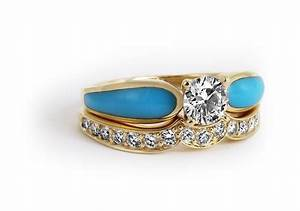 turquoise diamond engagement ring western fashion With turquoise diamond wedding rings