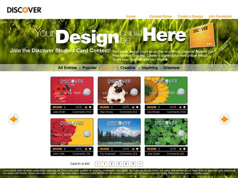 Discover Card Contest « 418QE