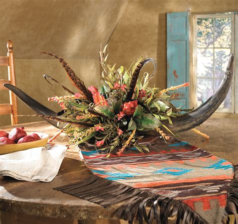 double horn floral arrangement