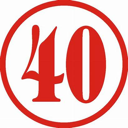 40 Number Clipart Clip Anniversary Cliparts Forty