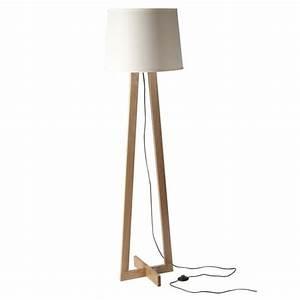 Lampe Sur Pied Scandinave : lampe pied triangulaire scandinave abat jour blanc ~ Teatrodelosmanantiales.com Idées de Décoration