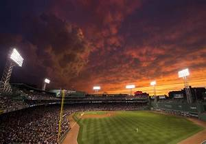 The Sunset Over Fenway Park Was Awe-Inspiring Last Night ...