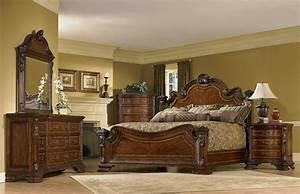 Art furniture old world bedroom set at1431562606set for Bedroom set furniture