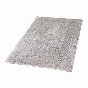 arizona tapis de bains gris argent kleine wolke With tapis gris argent
