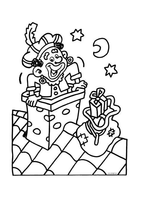 Kleurplaat Piet In Schoorsteen by Zwarte Piet In De Schoorsteen Sinterklaas Kleurplaten