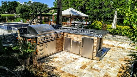 green kitchen backsplash home creative outdoor kitchens
