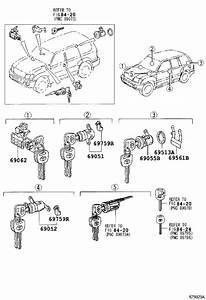 Toyota Land Cruiser Door Lock Cylinder  Right   Cylinder