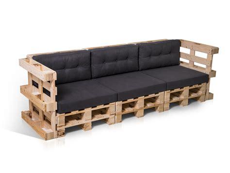 Paletti 3sitzer Sofa Aus Paletten Natur