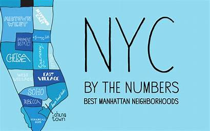 Manhattan Nyc Neighborhoods Numbers Map Number Ten