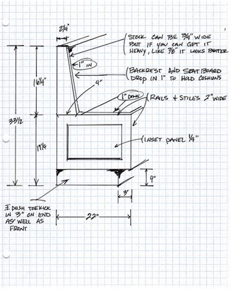 window seat dimensions banquette drawing flickr photo sharing