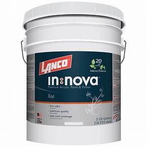 lanco 5 gal innova 2 in 1 paint and primer white and