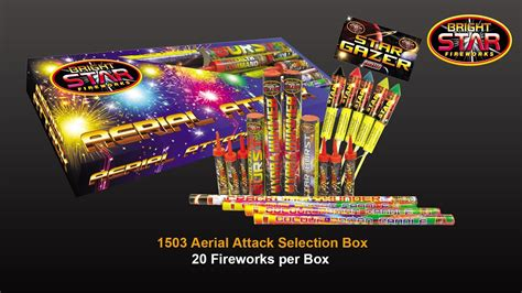 bright star fireworks  aerial attack selection box youtube