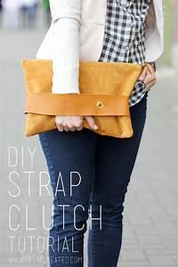 Taschen Beutel Nähen : diy leather strap clutch tutorial giveaway taschen selber herstellen n hen stricken und beutel ~ Eleganceandgraceweddings.com Haus und Dekorationen
