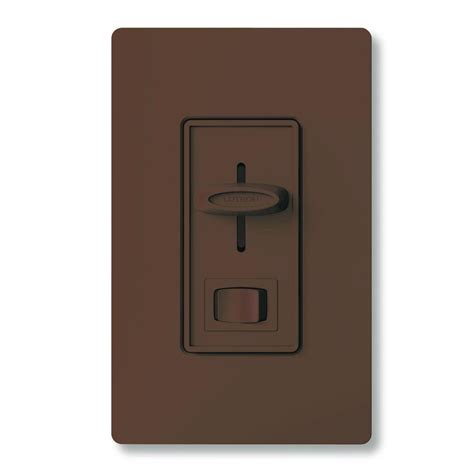 lutron skylark  watt single pole preset dimmer brown
