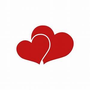 Stickers petit cœur dans gros cœur rouge Color stickers