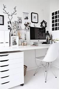 perfect office color ideas black and white ديكورات غرفة المكتب 2015 ، افكار لتجهيز المكتب2016