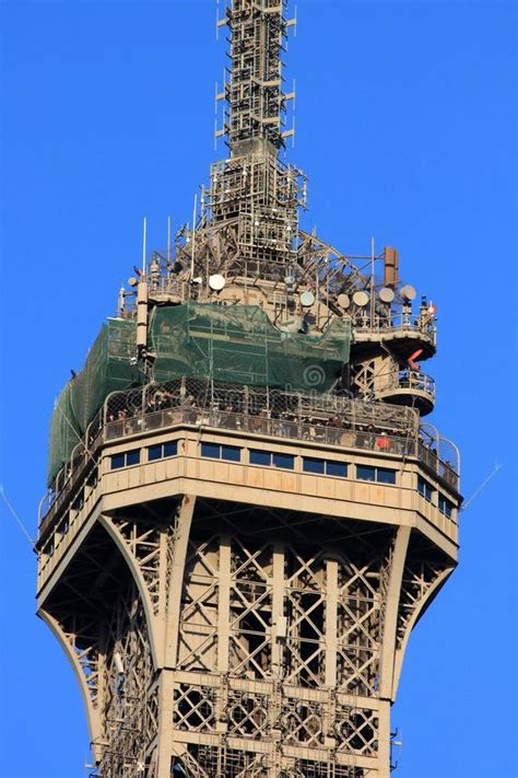 The Top Level Of The Eiffel Tower Stock Image - Image of ...