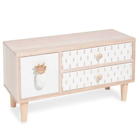 bo 238 te 3 tiroirs en bois pineapple gold maisons du monde