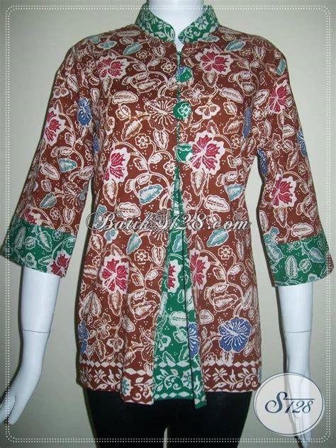 model terbaru baju batik kantor  wanita  dijual