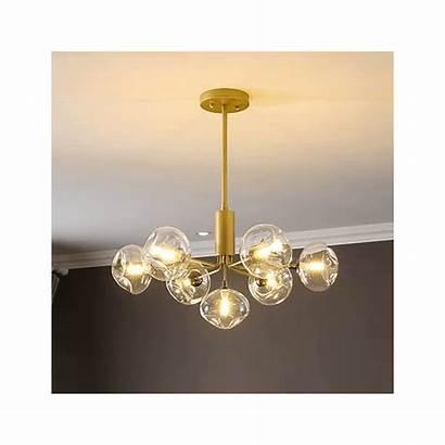 Erell Glazen Bollen Hanglamp Gouden Sospensione Vidrio
