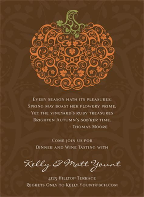 holiday seasonal fall thanksgiving invitations