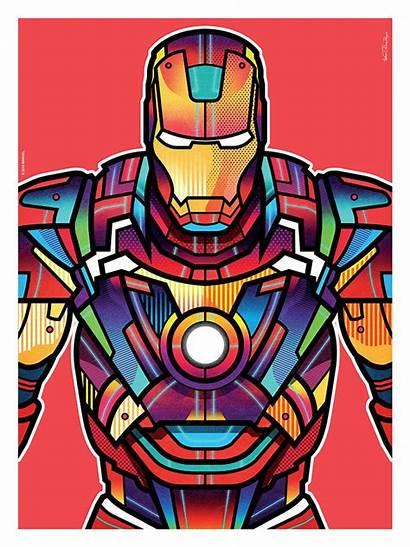 Marvel Superhero Avengers Orton Iron Colorful Hero