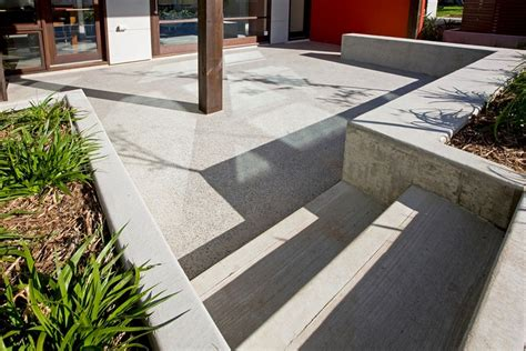 outdoor polished concrete for the garden