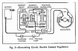 Double Contact Regulators Generating Circuit Diagram For The 1960 Chevrolet Passenger Car  61175