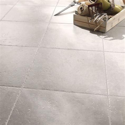 carrelage sol et mur gris clair effet michigan l 34 x l 34 cm leroy merlin
