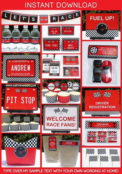 images  race car birthday  pinterest cars