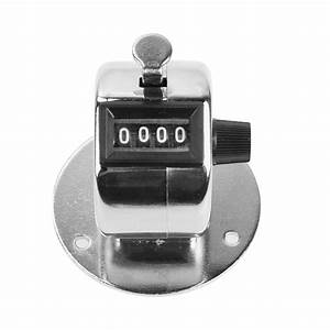 Hand Tally Digital Counter Meter 4 Digit Number Hand Held