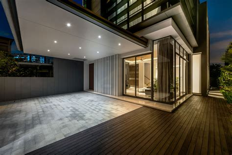 modern green wall house  singapore  adx architects pte