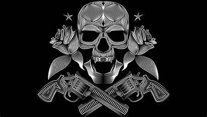 Guns Skulls Wallpapers Skull 4k Gun Roses
