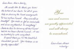 Flowers by anna sympathy flower testimonials essex county for Thank you letter for sympathy flowers