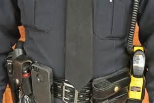 Police Officer Duty Belt with Taser