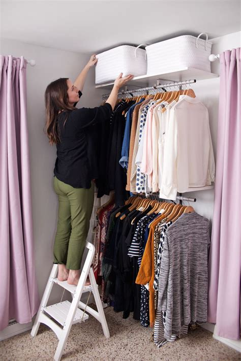 Bedroom Clothes Closet by Creating An Open Closet System A Beautiful Mess