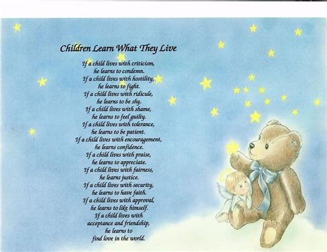 children learn what they live poem personalized name ebay