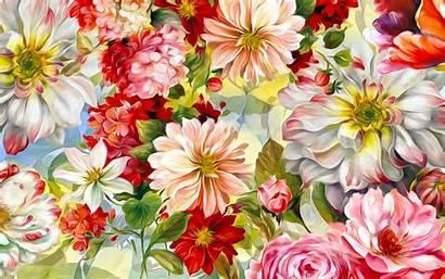 Texture Floral Flowers Painted Colorful Desktop Textures