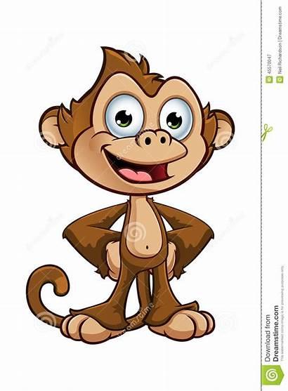 Monkey Cheeky Character Cartoon Scimmia Brutaal Insolente