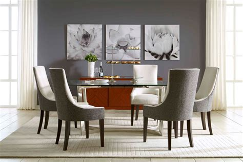 rectangular glass dining table dining room modern with