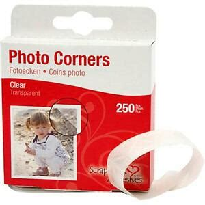 adhesive  pieces clear photopicture corners card