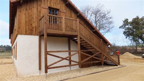 escalier bois exterieur droit vente d escaliers et gardes corps en bois pays basque cote