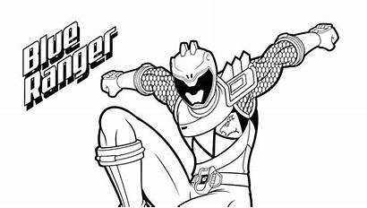 Rangers Dino Ranger Coloring Power Charge Pages