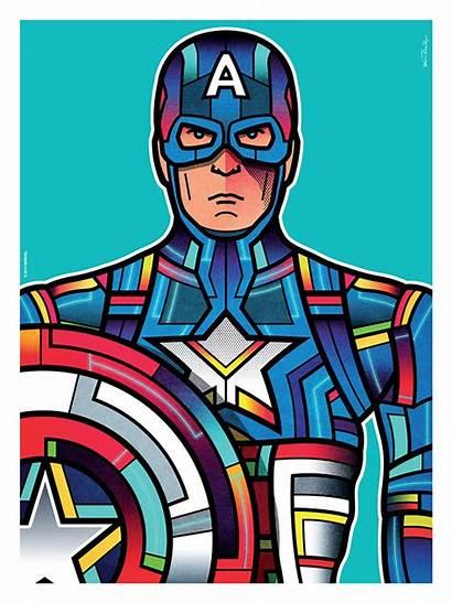 Van Orton Superhero Colorful Hero Captain America