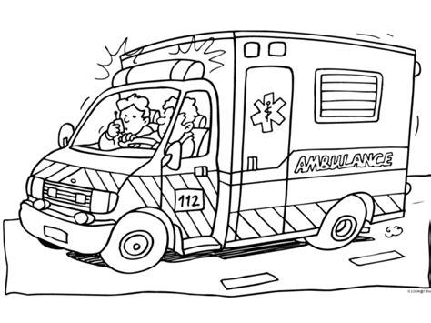 Kleurplaat Ziekenauto by Downloads