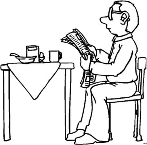 vater  fruehstueckstisch ausmalbild malvorlage comics