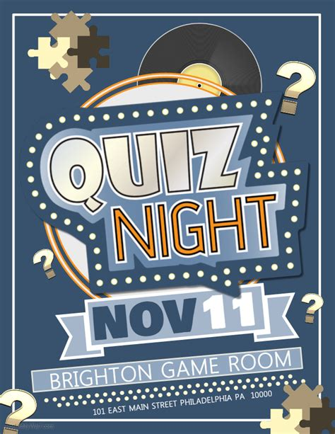 trivia night flyer templates quiz night competition poster template contest posters